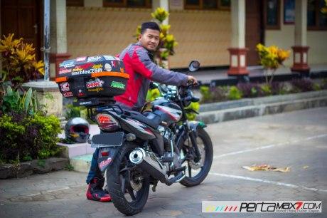 Mudahnya Pasang Braket geser Kucay di Honda Megapro plus Box Givi E20 Kuat mantabh 15 Pertamax7.com