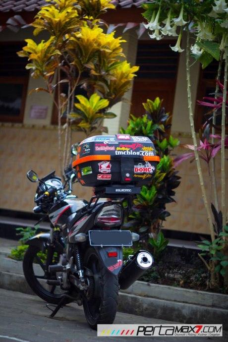 Mudahnya Pasang Braket geser Kucay di Honda Megapro plus Box Givi E20 Kuat mantabh 16 Pertamax7.com