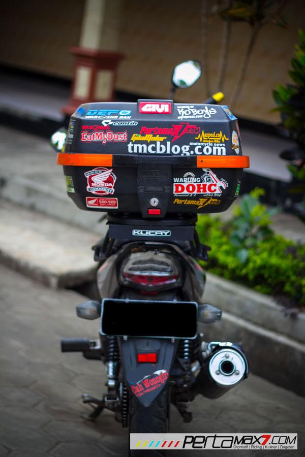Mudahnya Pasang Braket geser Kucay di Honda Megapro plus Box Givi E20 Kuat mantabh 17 Pertamax7.com