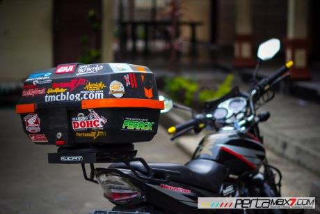 Mudahnya Pasang Braket geser Kucay di Honda Megapro plus Box Givi E20 Kuat mantabh 19 Pertamax7.com