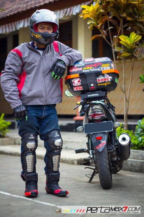 Mudahnya Pasang Braket geser Kucay di Honda Megapro plus Box Givi E20 Kuat mantabh 21 Pertamax7.com