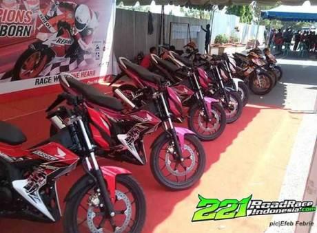 New Honda Sonic 150R standar kalahkan Yamaha Jupiter MX 150 dan Suzuki Satria F di Road Race Muara Enim 00 pertamax7.com