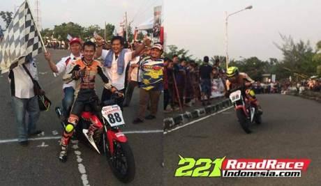 New Honda Sonic 150R standar kalahkan Yamaha Jupiter MX 150 dan Suzuki Satria F di Road Race Muara Enim 01 pertamax7.com