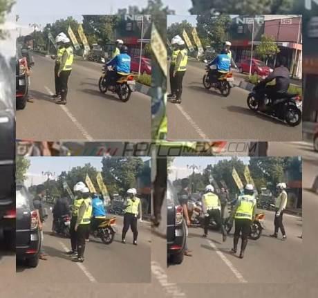 Nggak pakai helm Takut Ditilang, kabur...eh malah tabrak Motor Polisi di Ponorogo pertamax7.com