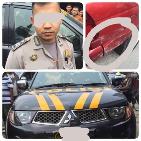 oknum Polisi Pakai Mobil Dinas tabrak warga sipil eh pake SIM Fotocopy, apa kata Divisi Humas Mabes Polri