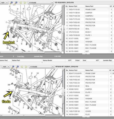 perbedaan rangka yamaha R25 dan yamaha MT-25