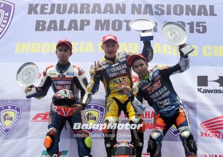 podium 1 kejurnas bebek 150 cc yamaha jupiter mx 150 sapu bersih podium pertamax7.com