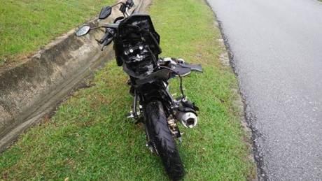 Rangka Belakang Yamaha New Vixion Ini melengkung setelah kecelakaan di Malaysia 00 pertamax7.com