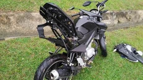 Rangka Belakang Yamaha New Vixion Ini melengkung setelah kecelakaan di Malaysia 02 pertamax7.com