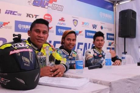 Rider podium kelas YCR 1 seri 5 Yamaha Cup Race di Pati Jawa Tengah