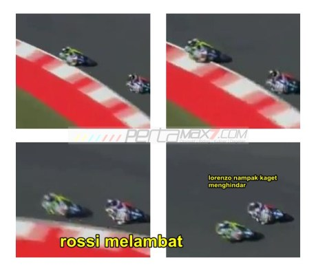 Rossi melambat halangi Lorenzo Dapat Penalty Point di kualifikasi motogp Misano 2015 pertamax7.com