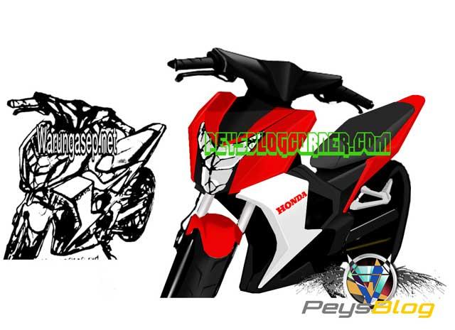 sketsa-New-Honda-Blade-150-K56F-menghangat,-Bebek-murni-Super-