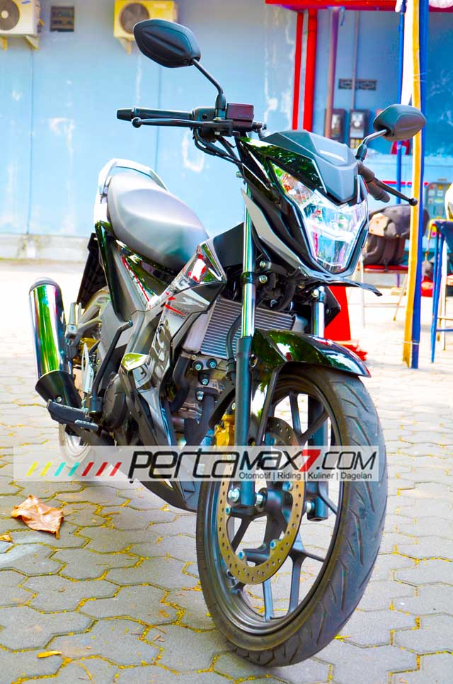 Testride New Honda Sonic 150R 04 Pertamax7.com