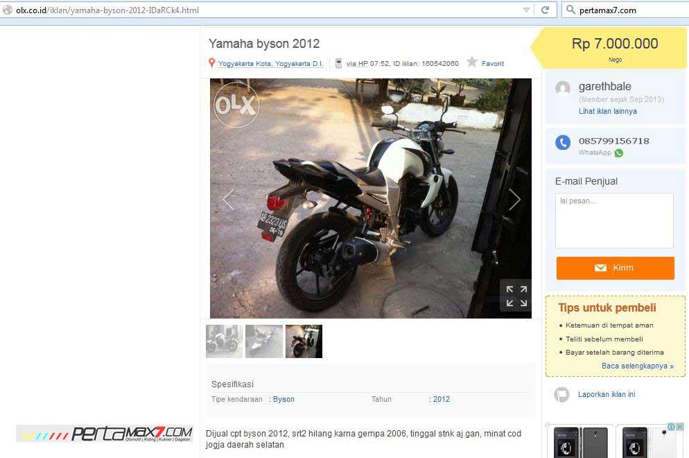 Yamaha-Byson-2012-ini-Dijual-Rp.7-juta-Karena-BPKB-hilang-saat-gempa-jogja-2006-pertamax7.com-