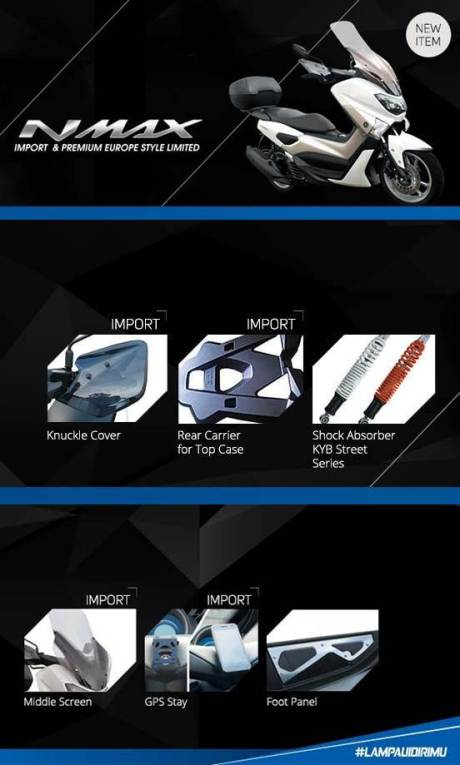 aksesoris resmi yamaha nmax 155 pertamax7.com