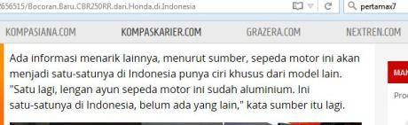 All New Honda CBR250RR bakal Pakai Swing Arm Alumunium jadi yang pertama di Indonesia Lahir Agustus 2016 pertamax7.com