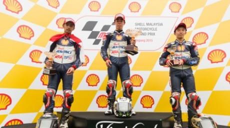 Andi Gilang Kibarkan Merah Putih di Ajang Balap Shell Asia Talent Cup Sepang 2015 Race 1