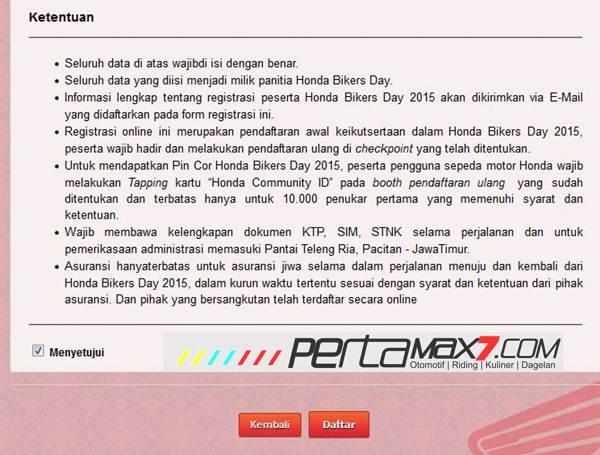 Ayo Daftar Online Honda Bikers Day 2015 di Pantai teleng ria Pacitan Jawa Timur pertamax7.com 3