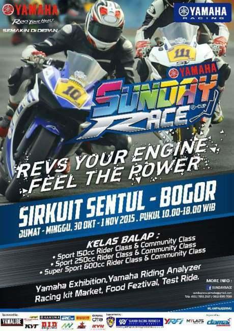Ayo Nonton Yamaha Sunday Race R-Cup Seri 3 Sentul 30 Oktober-1 November 2015 pertamax7.com 1