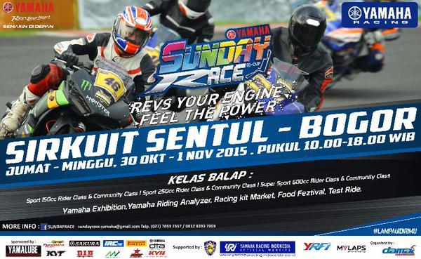 Ayo Nonton Yamaha Sunday Race R-Cup Seri 3 Sentul 30 Oktober-1 November 2015 pertamax7.com