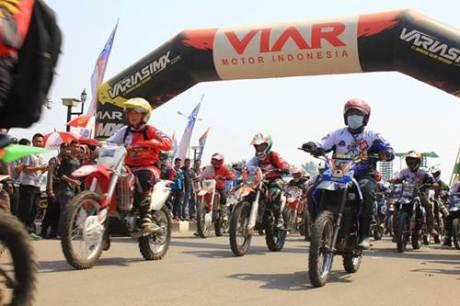 Bhayangkara Trail Adventure 5 kota Palu  berhadiah 12 motor Viar 01 pertamax7.com