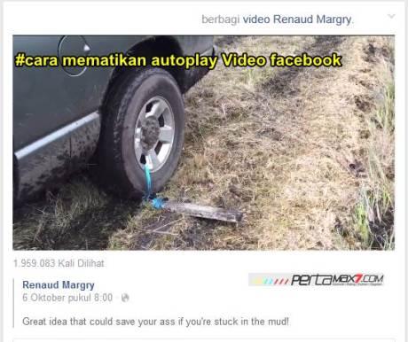 cara mematikan autoplay video facebook pertamax7.com