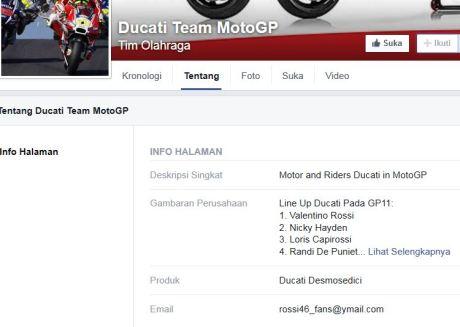 Ducati Team MotoGP Dukung Valentino Rossi  pertamax7.com