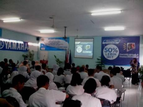 Edukasi teknologi Yamaha Blue Core di SMK Angkasa Bandung (2)