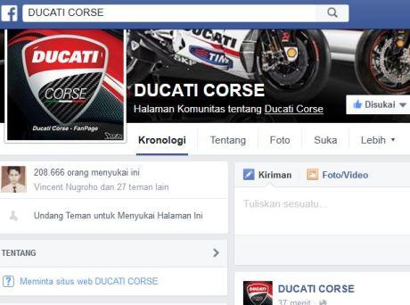 fb ducati corse Ducati Team MotoGP Dukung Valentino Rossi  pertamax7.com 1