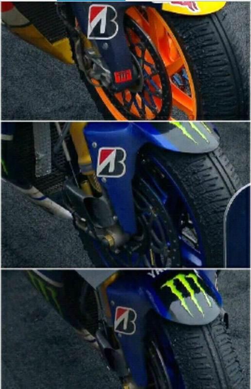 Intip Kondisi Ban Depan Pedrosa, Rossi dan Lorenzo Motogp Motegi Japan, Semua Pake Ban Keras