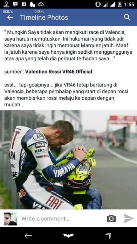 Kalaupun Jadi Valentino Rossi Boikot Motogp Valencia, Santer Pindah WSBK, Psywar kah pertamax7.com