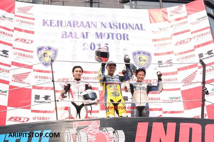 Kejurnas Seri 5 Sentul besar, Yamaha Jupiter MX King Juara 1 Honda CB150R kedua Yamaha R15 ketiga, campur akur 00 pertamax7.com