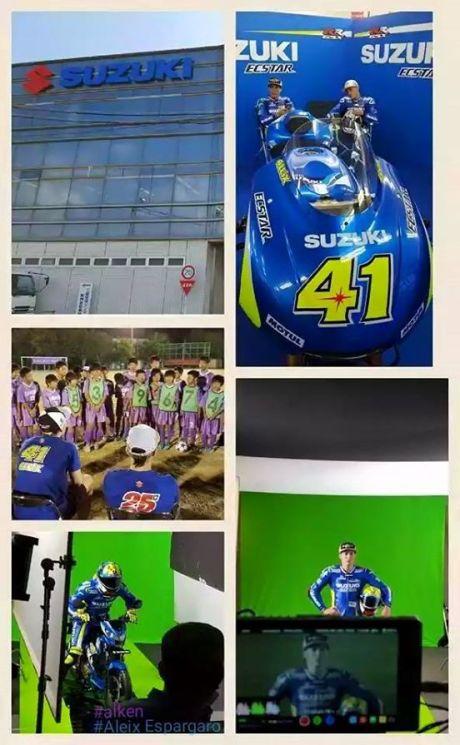 Keren Nih Aleix Espargaro dan Vinalez Jadi Bintang Iklan Suzuki Satria F pertamax7.com