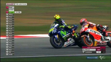 Marquez Crash senggol Rossi, apa yang terjadi