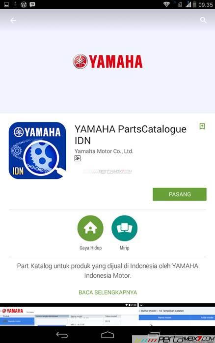 Mencoba Aplikasi Android Yamaha PartsCatalogue buat cek spare parts 01 pertamax7.com