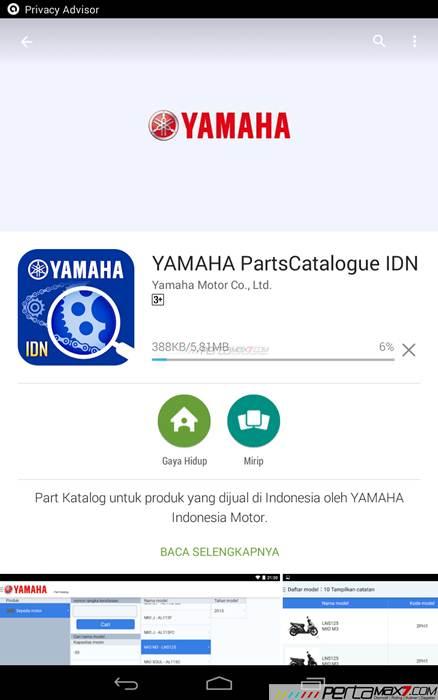 Mencoba Aplikasi Android Yamaha PartsCatalogue buat cek spare parts 02 pertamax7.com