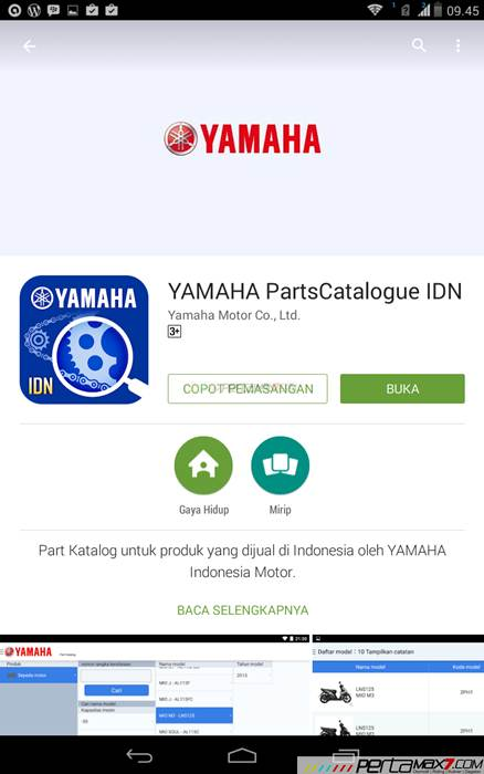 Mencoba Aplikasi Android Yamaha PartsCatalogue buat cek spare parts 03 pertamax7.com