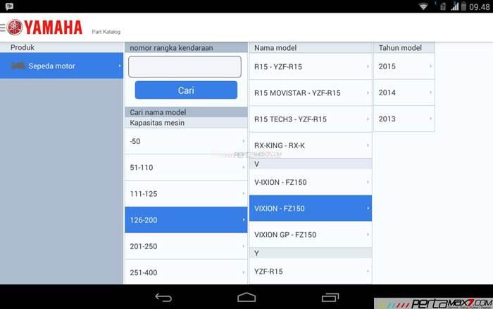 Mencoba Aplikasi Android Yamaha PartsCatalogue buat cek spare parts 05 pertamax7.com