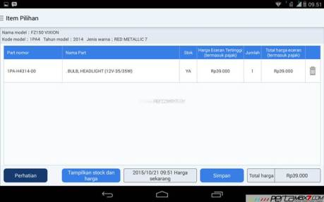 Mencoba Aplikasi Android Yamaha PartsCatalogue buat cek spare parts 12 pertamax7.com