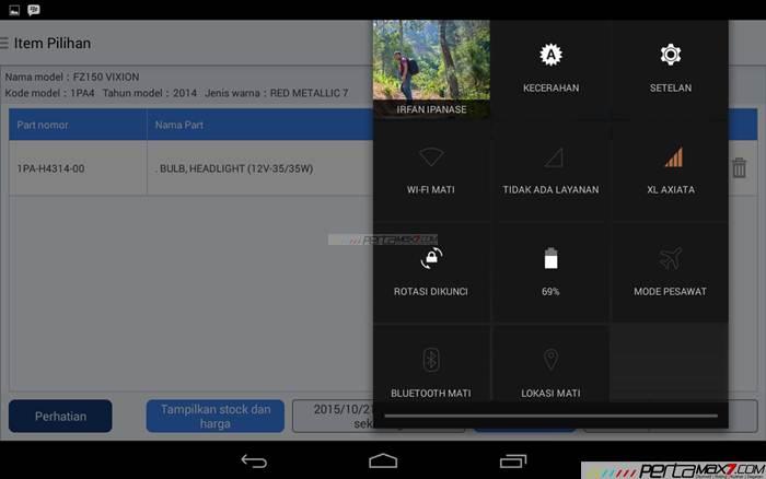 Mencoba Aplikasi Android Yamaha PartsCatalogue buat cek spare parts 14 pertamax7.com