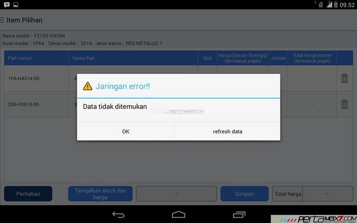 Mencoba Aplikasi Android Yamaha PartsCatalogue buat cek spare parts 15 pertamax7.com
