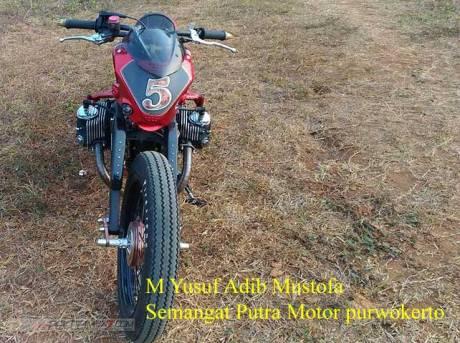 Modifikasi Honda Tiger jadi BOXER engine 400 cc Karya Semangat Putra Motor purwokerto 02 Pertamax7.com