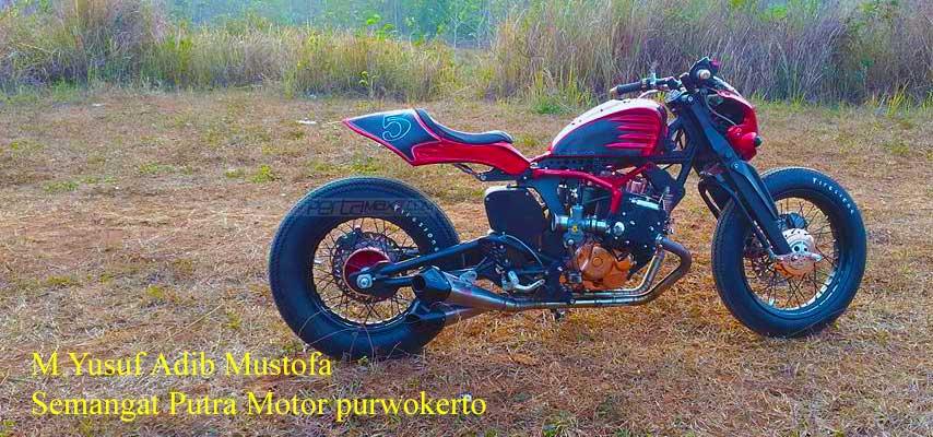 Modifikasi Honda Tiger jadi BOXER engine 400 cc Karya Semangat Putra Motor purwokerto 03 Pertamax7.com