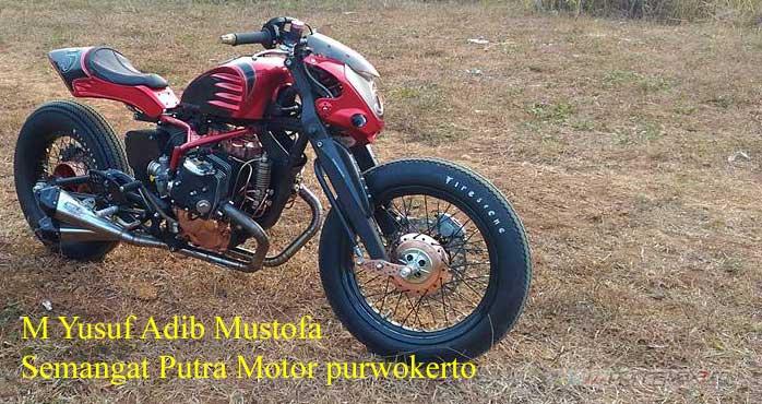 Modifikasi Honda Tiger jadi BOXER engine 400 cc Karya Semangat Putra Motor purwokerto 04 Pertamax7.com