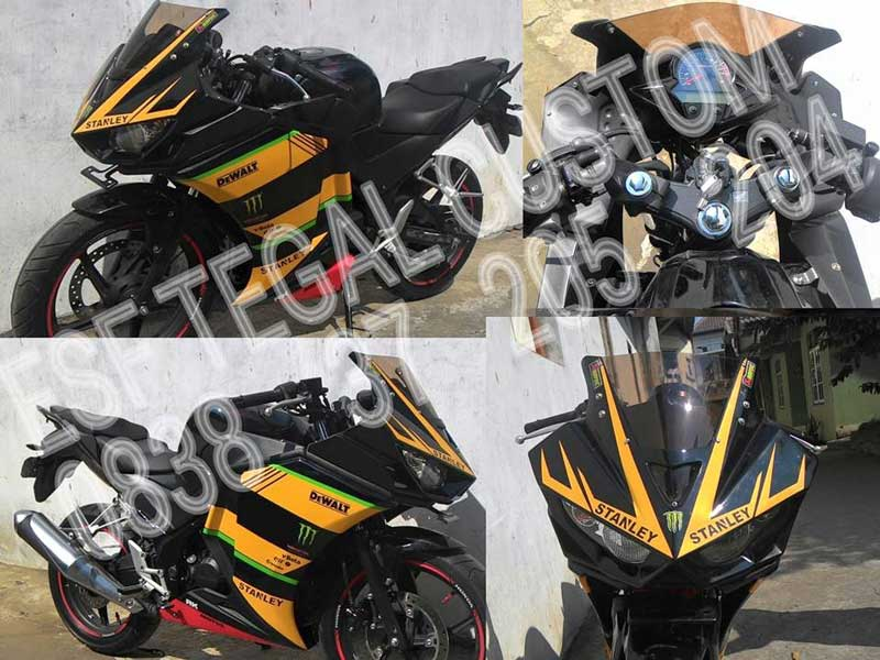 Modifikasi-Unik-Kala-Honda-CBR150R-lokal-Bertampang-ala-Yamaha-R25-pertamax7.com-