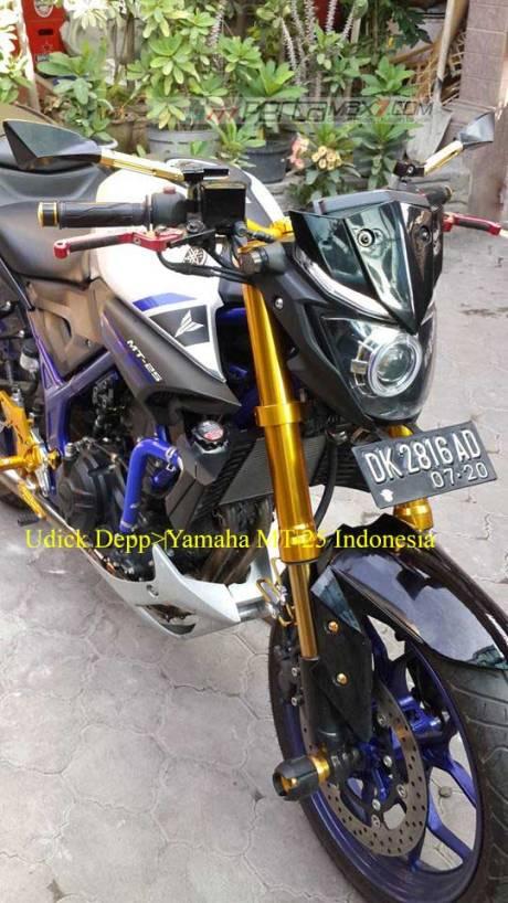 Modifikasi Yamaha MT25 pakai Upside Down Emas ini Nampak JOSS, coba dari pabrikan kayak gini 01 Pertamax7.com
