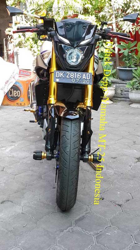 Modifikasi Yamaha MT25 pakai Upside Down Emas ini Nampak JOSS, coba dari pabrikan kayak gini 02 Pertamax7.com