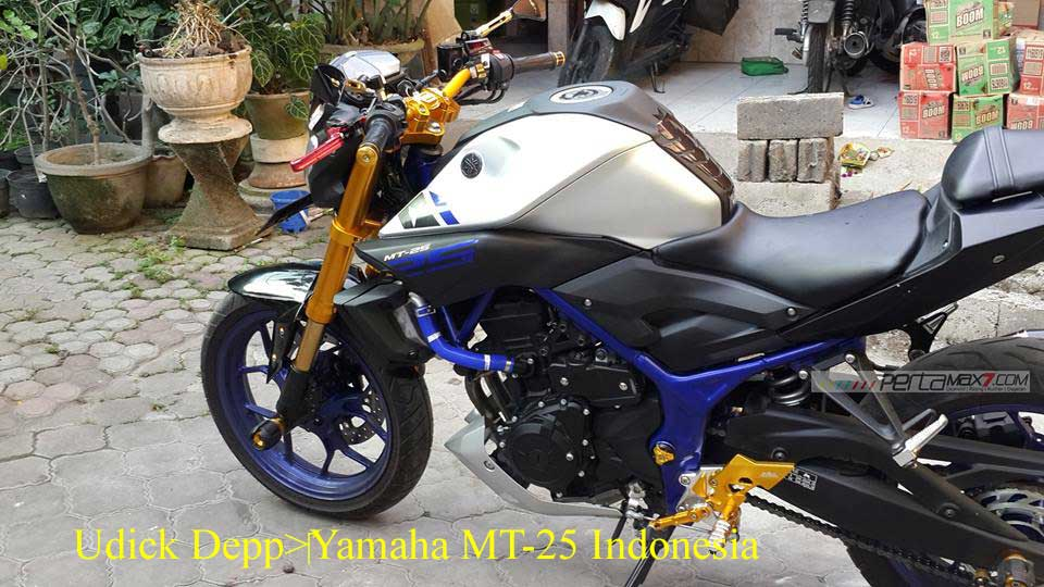 Modifikasi Yamaha MT25 pakai Upside Down Emas ini Nampak JOSS, coba dari pabrikan kayak gini 05 Pertamax7.com