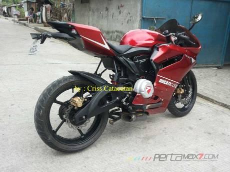 Modifikasi Yamaha SZ-R jadi Ala Ducati Panigale asal Filipina ini Unik 02 Pertamax7.com