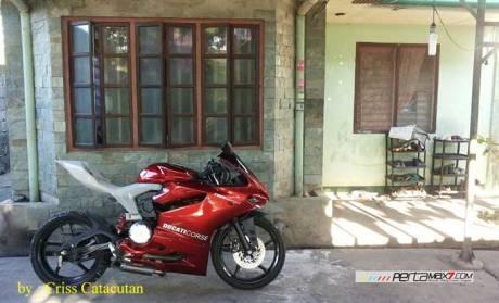Modifikasi Yamaha SZ-R jadi Ala Ducati Panigale asal Filipina ini Unik 03 Pertamax7.com